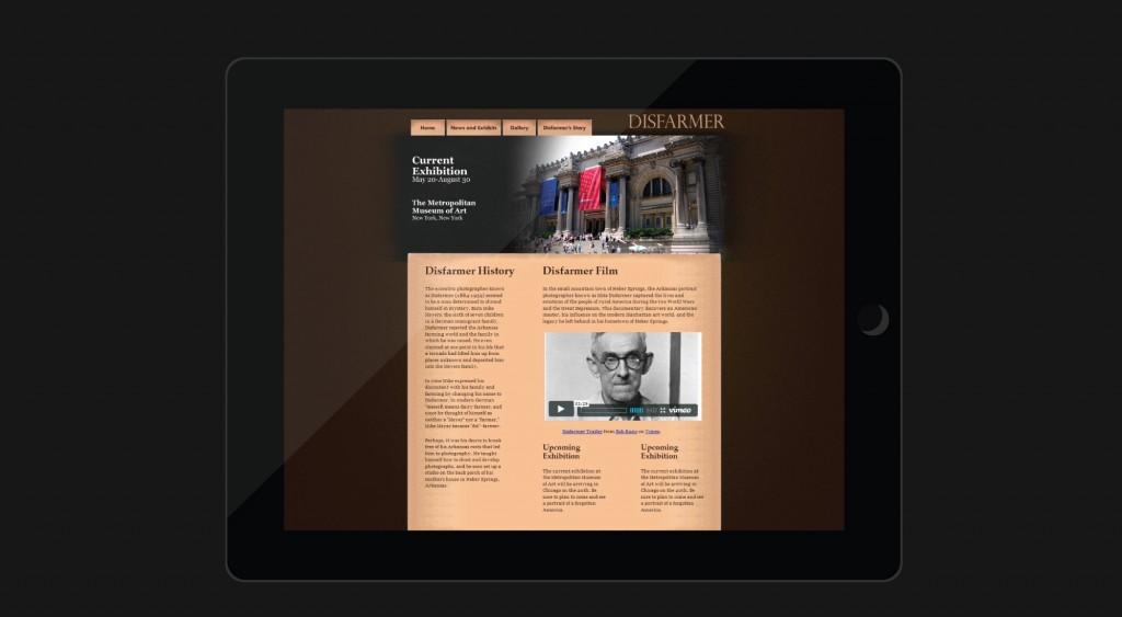 Disfarmer Photographer website design | San Antonio, Texas