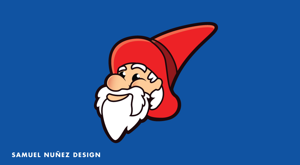 San Antonio College gnome ranger head logo design