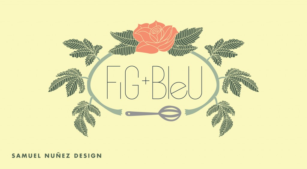 Fig+Bleu handdrawn custom logo design | San Antonio, Texas