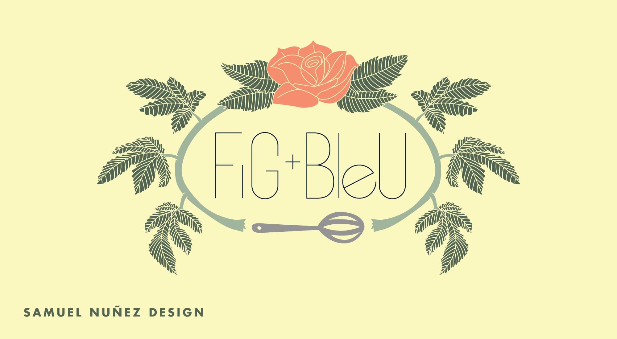 Fig+Bleu logo baker, confectioner, and blogger