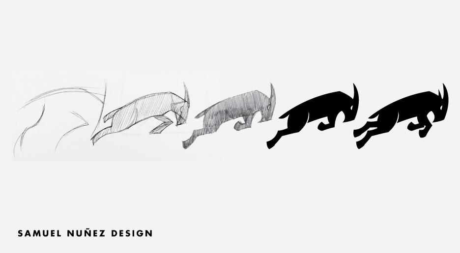 Goat logo icon | San Antonio logo design process