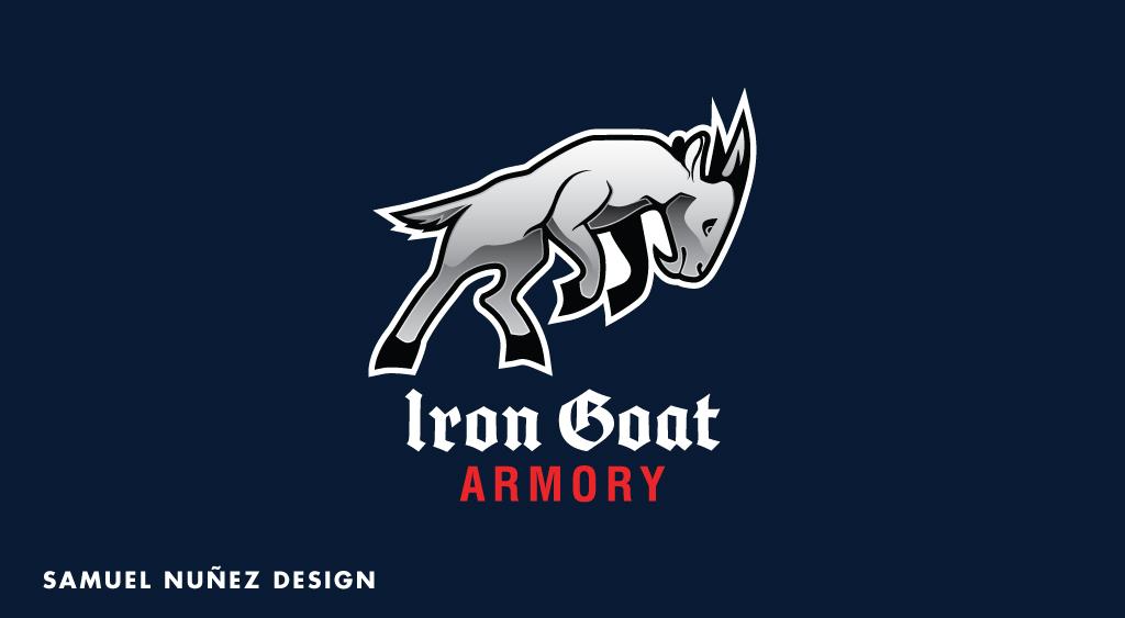 Iron Goat Armory logo design