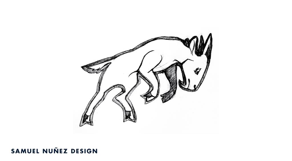 Iron Goat logo deign sketch